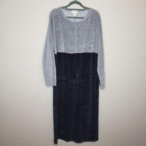 J Jill velour lounge gown dress large